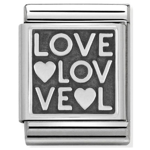 Nomination BIG Silver Love Charm 332110 10