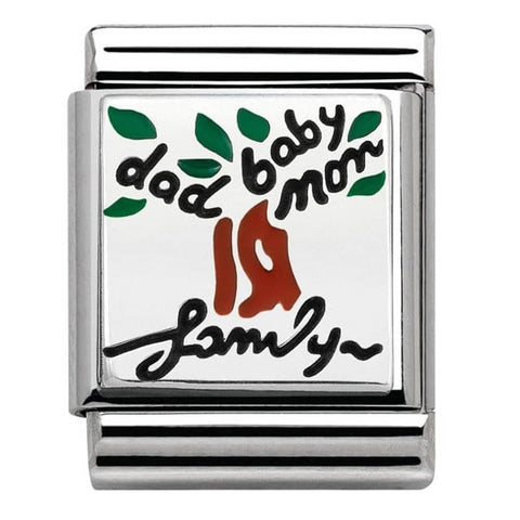 Nomination BIG Silver Family Tree Charm 332203 15