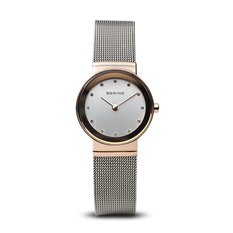 Bering Ladies Classic Polished Rose Gold Watch 10126-066