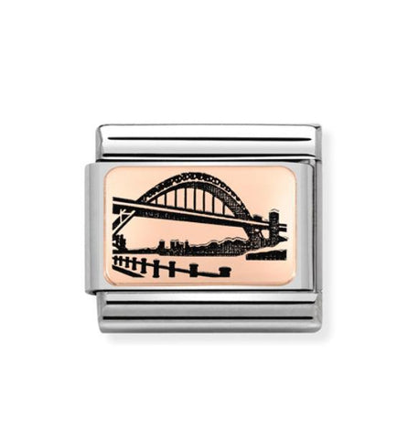 Nomination 9ct Rose Gold Tyne Bridge Charm 430111 07 Pre Order