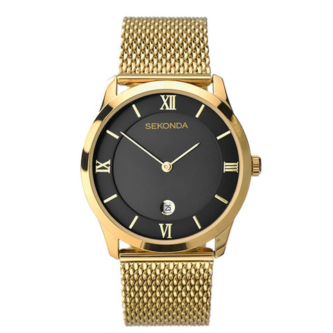Sekonda Mens Gold Plated Milanese Dress Watch 1064 1006229