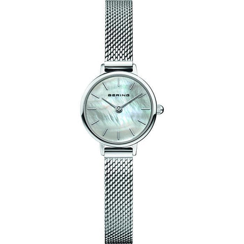 Bering Ladies Classic Polished Silver Watch 11022-004