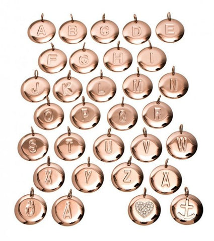 Edblad Initial Pendants Rose Gold or Silver - Small