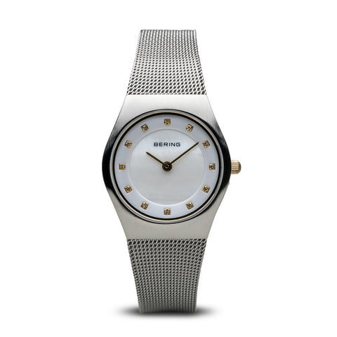 Bering Ladies Classic Brushed Silver Watch 11927-004