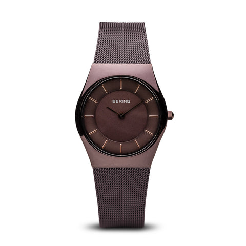 Bering Ladies Classic Polished Brown Watch 11930-105 1007117