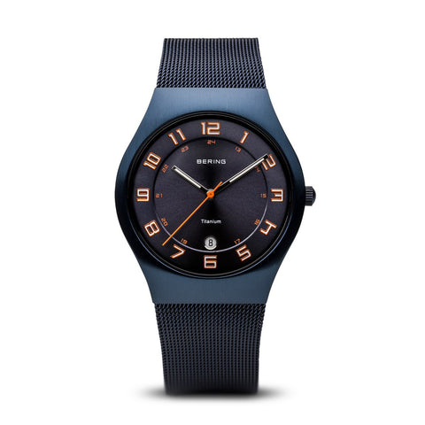 Bering Gents Classic Brushed Blue Watch 11937-393