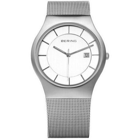 Bering Gents Classic Brushed Silver Watch 11938-000