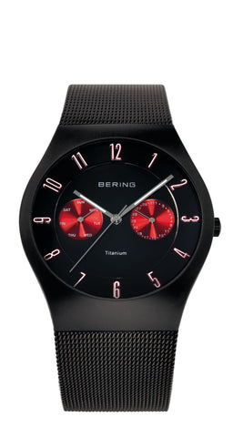 Bering Gents Titanium Brushed Black Watch 11939-229
