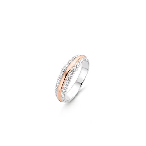 Hot Diamonds Anais Rose Gold Ring with White Topaz Charms EX203 AC052 2007204