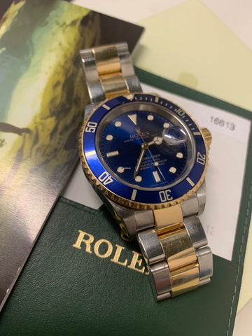 Rolex Submariner Date Steel & 18ct Gold Full Set Pre-Owned Watch
