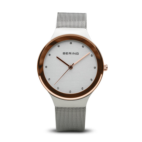 Bering Ladies Classic Polished Silver Watch 12934-060
