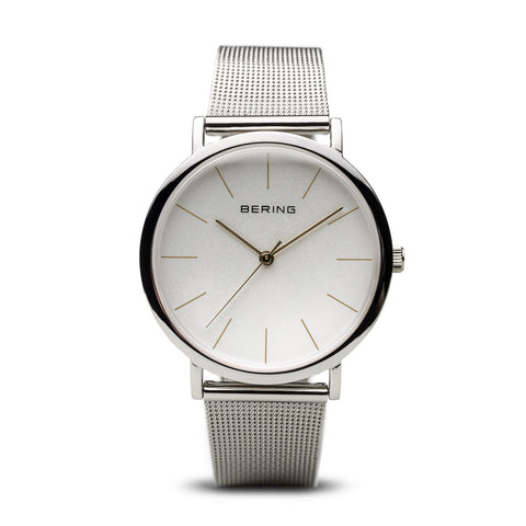 Bering Ladies Polished Silver Watch 13436-001