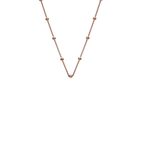 "Hot Diamonds Emozioni 24"" Rose Gold Plated Intermittent Bead Chain CH051 2104048"