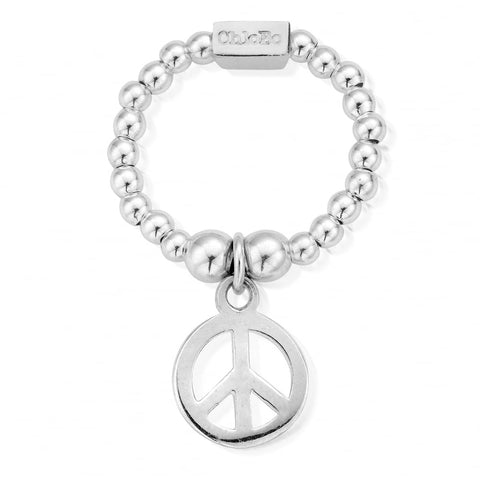 ChloBo - Mini Peace Sterling Silver Ring SRM1107 2201002
