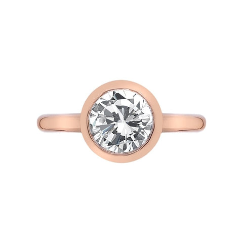 Hot Diamonds Emozioni Rose Gold Riflessi Ring ER004 2101112