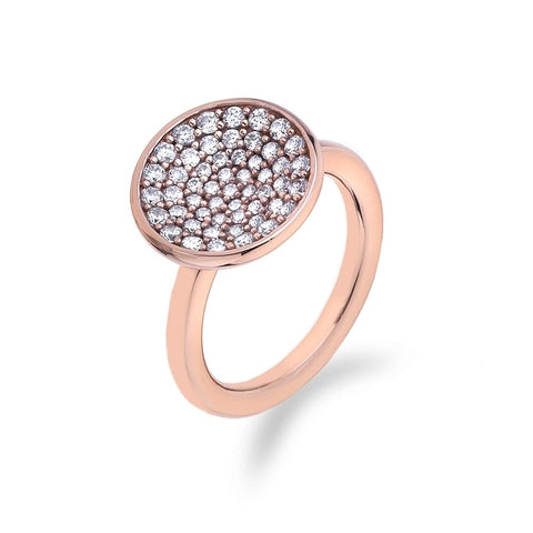Hot Diamonds Emozioni Rose Gold Scintilla Ring ER006 2101127