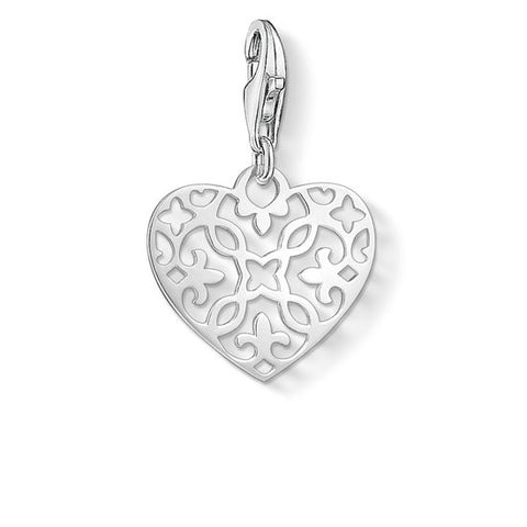 Thomas Sabo Arabesque Heart Charm 1497-001-12