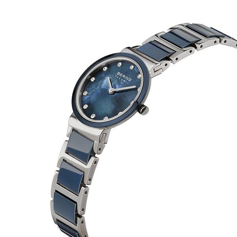 Bering Ladies Ceramic Polished Silver Watch 10729-787