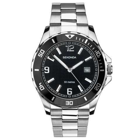 Sekonda Mens Stainless Steel Bracelet Sports Watch 1513 1006328