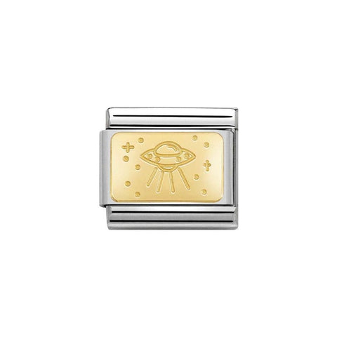 Nomination 18ct Gold Plate UFO Charm 030153 20