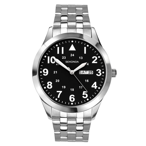 Sekonda Mens Stainless Steel Bracelet Watch 1663 1006327