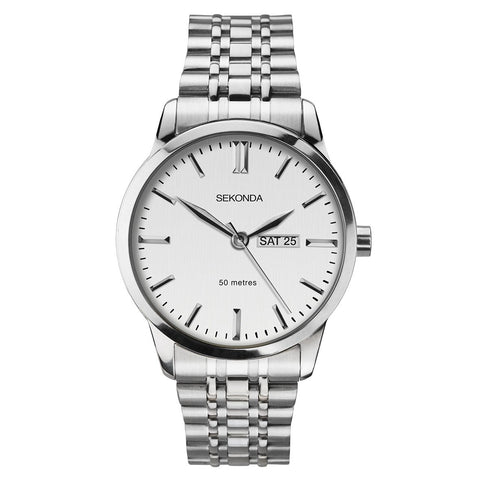 Sekonda Mens Stainless Steel Bracelet Watch 1664 1006332