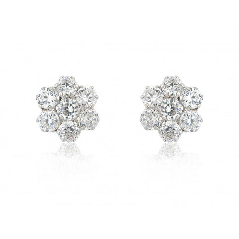 9ct White Gold CZ Stud Earrings 7C07WCZ