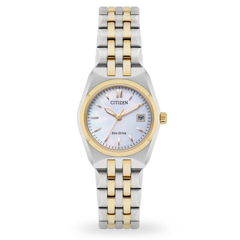 Citizen Ladies Corso Two Tone Mother of Pearl Watch EW2296-58D 1003343