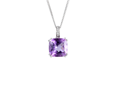 Amore Sterling Silver Vivacious Violet Necklace