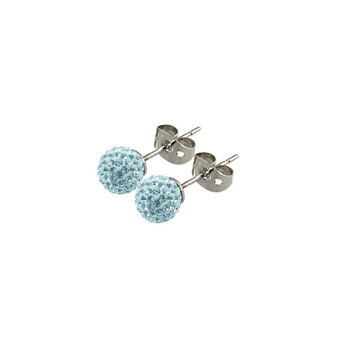 Tresor Paris - Donnay 10mm Blue Crystal Ball Stud Earrings