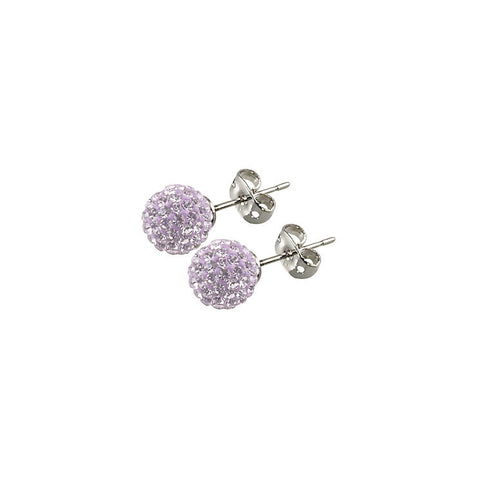 Tresor Paris - Lilas 10mm Lilac Crystal Ball Stud Earrings