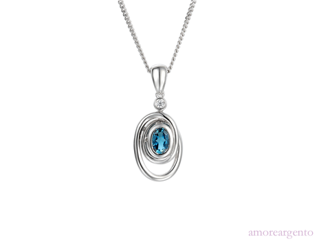 Amore Sterling Silver Wild Spirit Necklace