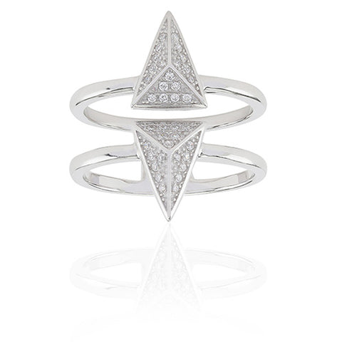 Sif Jakobs - Pecetto Sterling Silver with White CZ Ring SJ-R0043-CZ 4002273