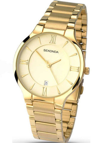 Sekonda Mens Gold Plated Bracelet Watch 1139 1006252