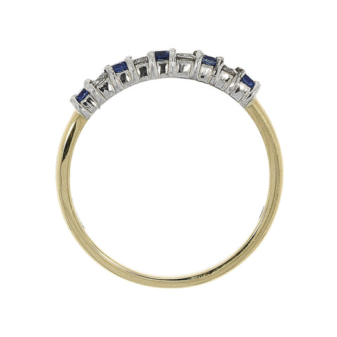 18ct Gold Diamond & Sapphire 9 Stone Eternity Ring 21210DS 0308293