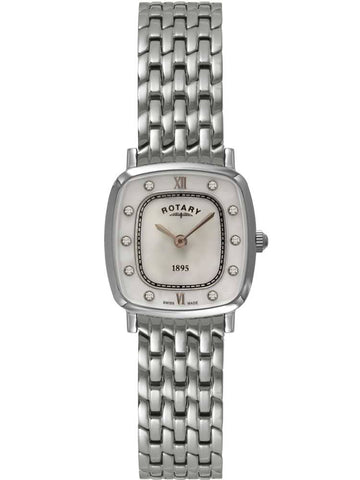 Rotary Ladies Ultra Slim Stainless Steel Bracelet Watch LB08100/41