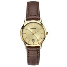 Sekonda Ladies Brown Leather Strap Watch 2458 1006287