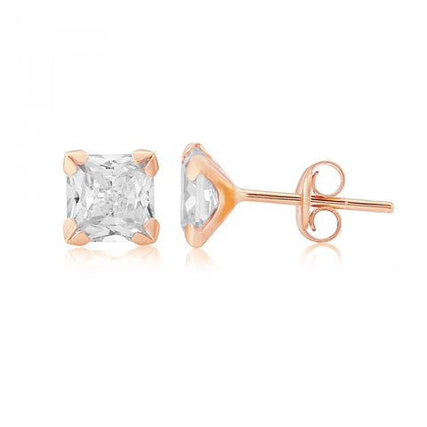 9ct Rose Gold CZ Stud Earrings 8H93RCZ