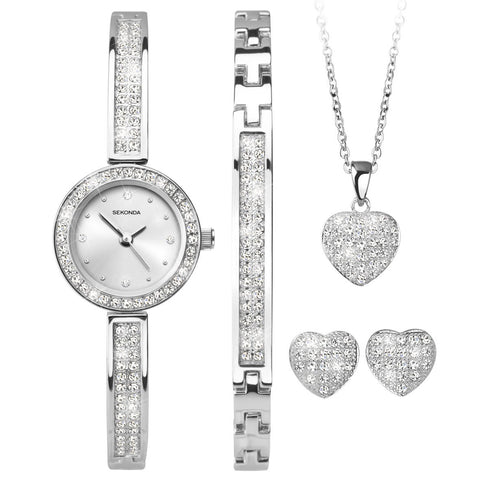 Sekonda Ladies Watch & Jewellery 4 Piece Gift Set 2528G 1006356