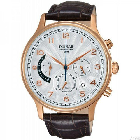 Pulsar Chrono Gents Leather Strap Watch PU6010 1005057