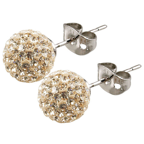 Tresor Paris - Cramenil 10mm Gold Crystal Ball Stud Earrings