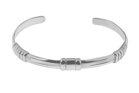 Tianguis Jackson Sterling Silver Banded Torque Bangle BT2145 0401227
