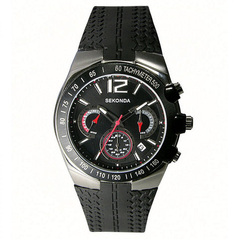 Sekonda Mens Chronograph Rubber Strap Watch 3039