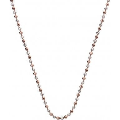 "Hot Diamonds Emozioni 30"" Rose Gold Accent Bead Chain CH020 2104018"