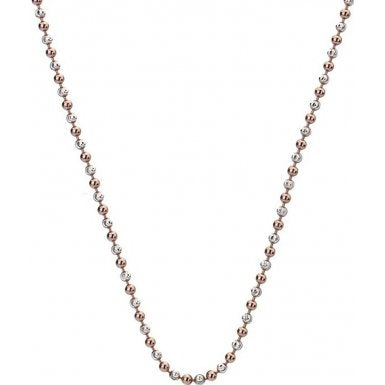 "Hot Diamonds Emozioni 24"" Rose Gold Accent Bead Chain CH056 2104053"