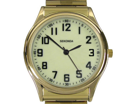 Sekonda Mens Gold Plated Expander Watch 3244 1006076