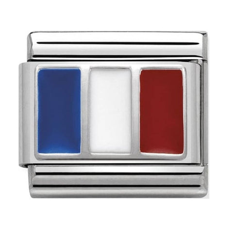 Nomination Silver & Enamel France Flag Charm 330207 12