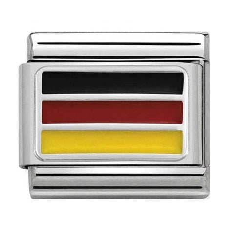 Nomination Silver & Enamel Germany Flag Charm 330207 14