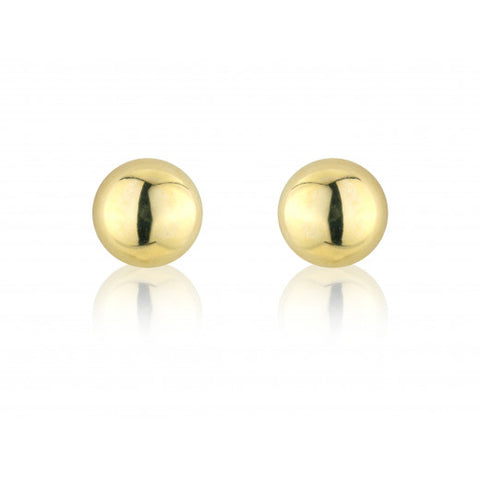 9ct Gold Half Bead Stud Earrings 8663Q 0303311