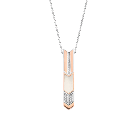 Sif Jakobs - Otranto Rose Gold & White CZ Pendant Necklace SJ-PHD106-CZ(RG) 4010281 SALE